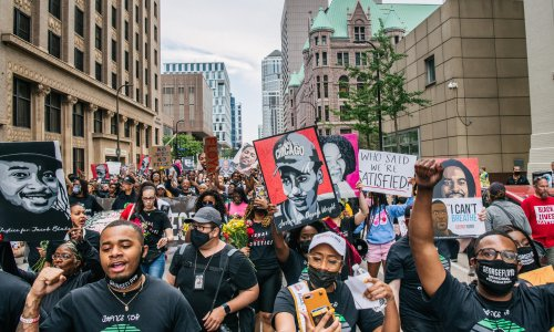 George Floyd: Minneapolis holds rallies in build-up to anniversary of police killing