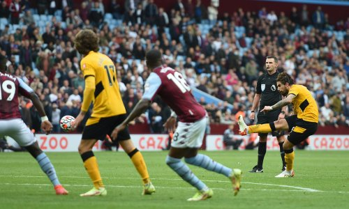 Rúben Neves completes astonishing comeback win for Wolves at Aston Villa