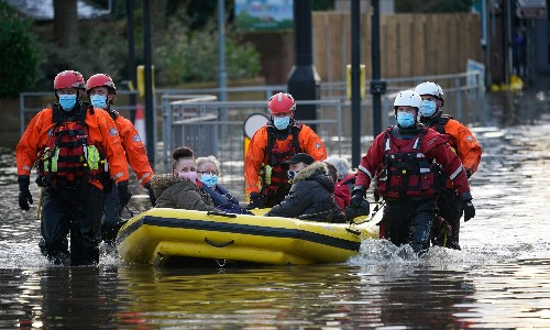 North-west England and Wales badly hit by floods from Storm Christoph