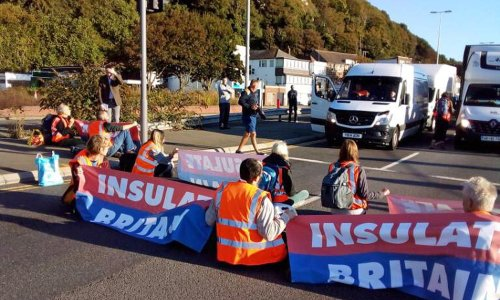 Insulate Britain climate activists block port of Dover