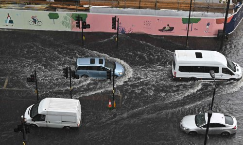 Thunderstorms leave roads and tube stations flooded in London