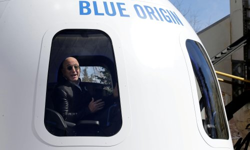 In space, nobody can hear Jeff Bezos. So can Richard Branson go too?