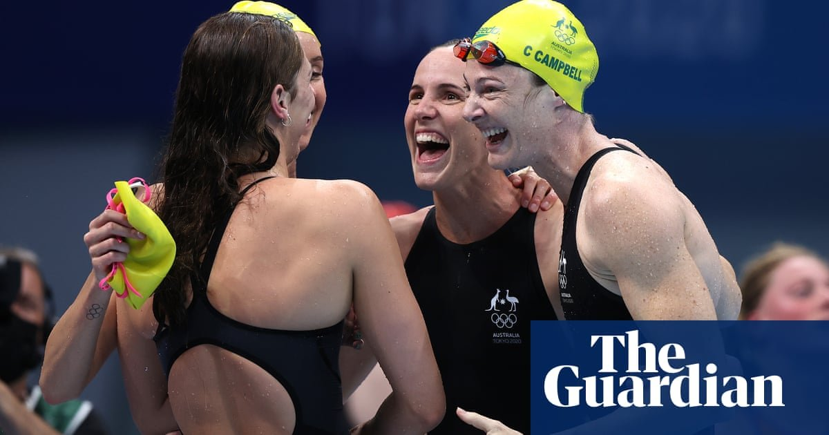 Women's relay team smash own world record for Australia's first Tokyo 2020 Olympics gold
