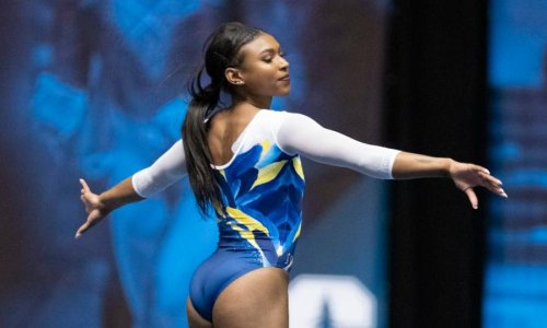 Nia Dennis wins plaudits for stunning 'black excellence' gymnastics routine