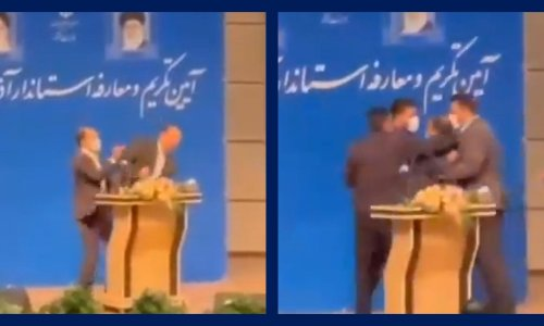New Iranian regional governor slapped in face at inauguration