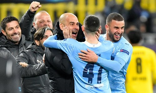 Guardiola delights in Manchester City 'building history' in Champions League
