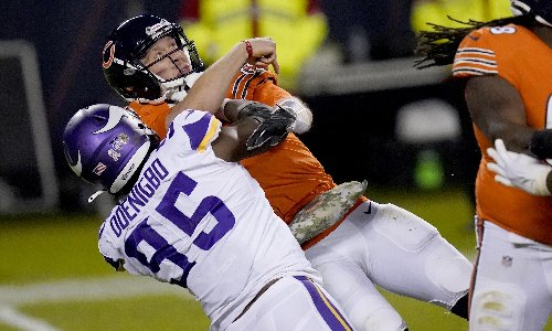 Bears lose Foles and game as Vikings triumph on Monday Night Football