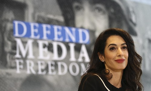 Amal Clooney decries 'legal charade' after journalist Maria Ressa charged again with libel
