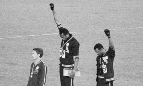 The third man on the podium in 1968 Olympic protest
