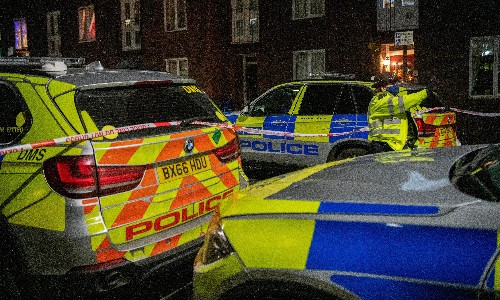 Police break up fight in London between 40 men involving knives and a sword
