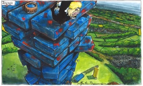 Martin Rowson on Tories' 'blue wall' byelection trouble – cartoon