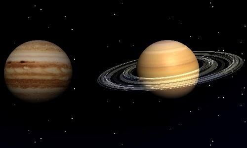 Jupiter and Saturn meet in closest 'great conjunction' since 1623