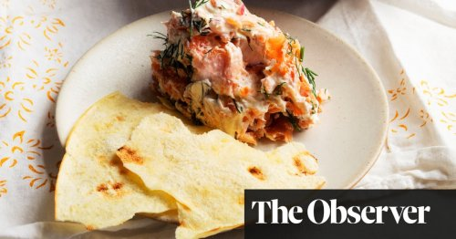 Nigel Slater's recipes for salmon terrine, and for prawn cakes