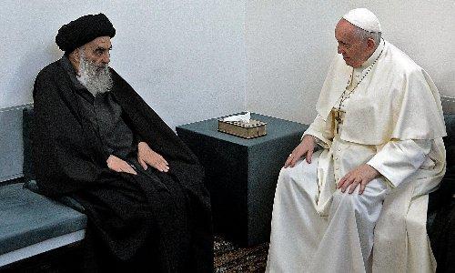 Pope Francis and Grand Ayatollah Sistani call for unity at Iraq meeting