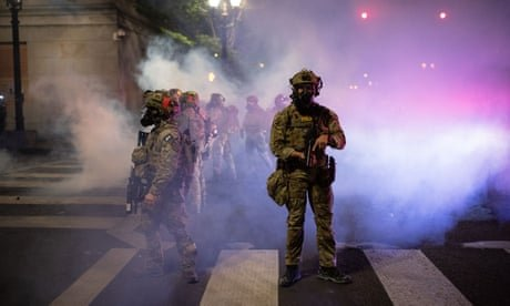 'That's an illegal order': veterans challenge Trump's officers in Portland