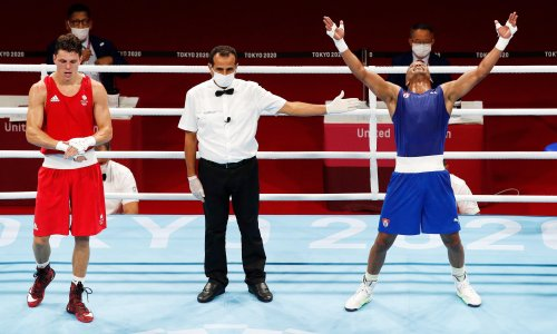 Roniel Iglesias joins elite Olympic group after beating Pat McCormack to gold