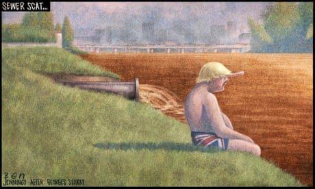 Ben Jennings on Boris Johnson's partial U-turn on sewage – cartoon