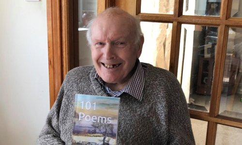 'He's got a wee spring in his step': 92-year-old grandfather becomes bestselling poet