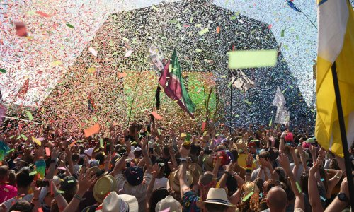 Carnage, chaos, Coldplay: Glastonbury at home is a sad, brilliant reminder of real life