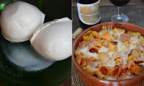 Rachel Roddy's recipe for pasta al forno – baked pasta with meatballs and mozzarella