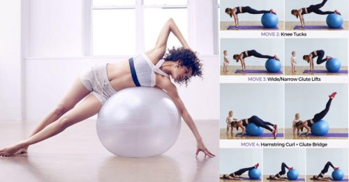 Stability Ball Workout For A Strong Well Defined Core & Legs - GymGuider.com