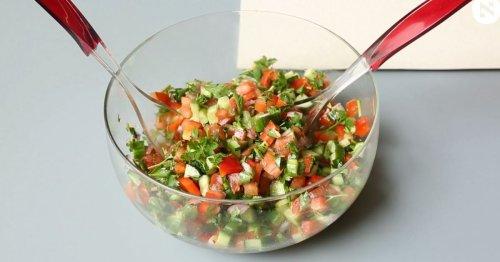 How to Make Israeli Salad, a Video Recipe