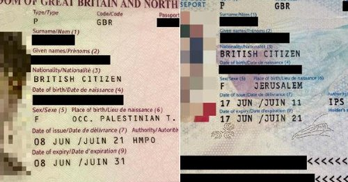 U.K. Lists 'Occupied Palestinian Territories' Instead of Jerusalem on British-Israeli's Passport