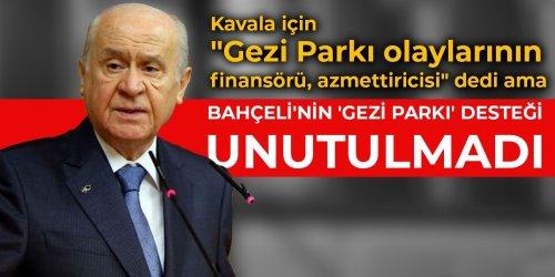 Bahçeli'nin 'Gezi Parkı' desteği unutulmadı