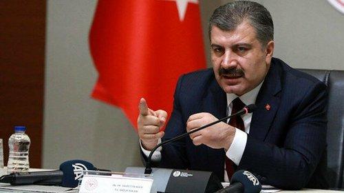 Bakan Koca kısıtlama açıklaması için Erdoğan'ı işaret etti