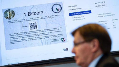NRW-Justiz versteigert ersten Bitcoin deutlich über Kurswert