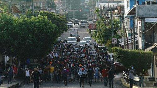 Mexiko: Tausende Migranten zieht es durch Tapachula Richtung Norden