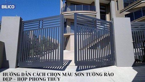 Cách Phối Màu Sơn Tường Rào Đẹp - Hợp Phong Thủy