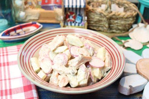 Radieschen-Gurkensalat mit Stremellachs