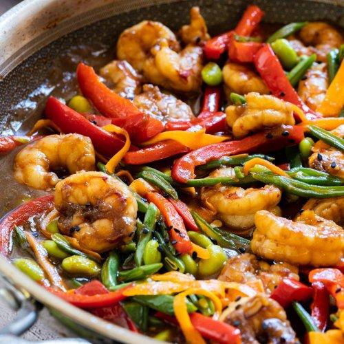 Shrimp Stir Fry Recipe - Happy Foods Tube