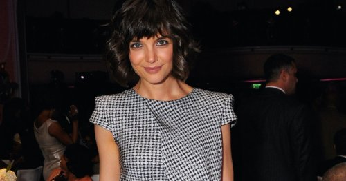 Vichy-Karos: Katie Holmes trägt den karierten Kleider-Trend des Sommers