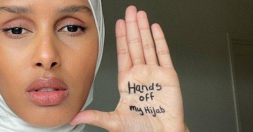 """""""لاتلمسوا حجابي"""" العارضة روضة تدعو للحراك ضد حظر الحجاب في فرنسا"""