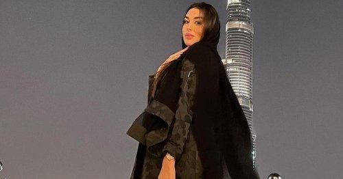 ياسمين صبري تختار العباية في دبي...
