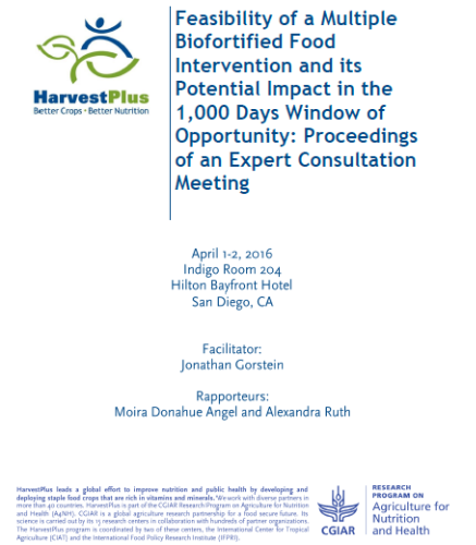 Feasibility of a Multiple Biofortified Food Intervention and its Potential Impact in the 1,000 Days Window of Opportunity