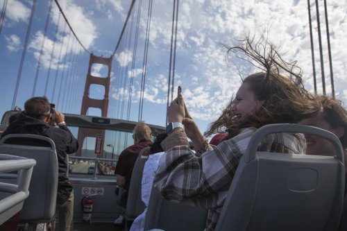 Who is visiting S.F? We rode a bus with tourists to find out