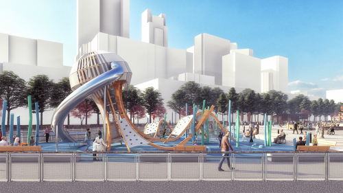 New park on Pier 58 will feature playground, event space, more