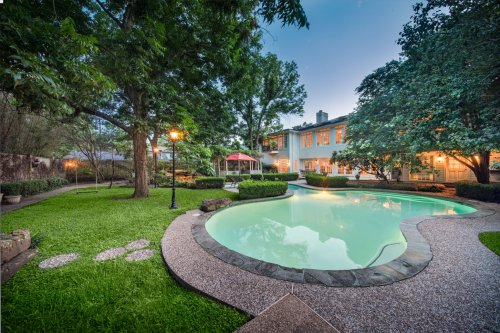A West University home with its own lazy river is now for sale