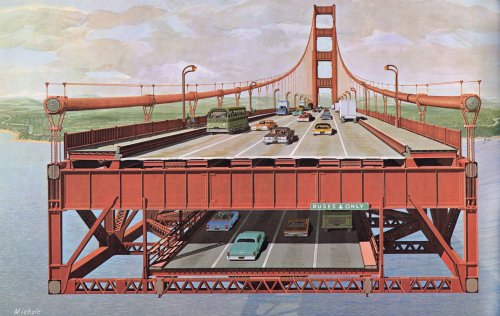 The Golden Gate Bridge almost connected BART to Marin with a lower deck