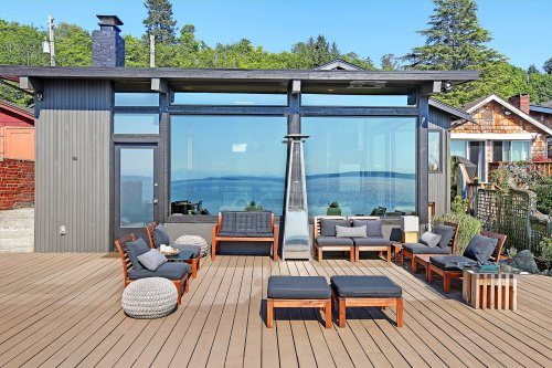 Live on the beach in this unique Seattle waterfront home