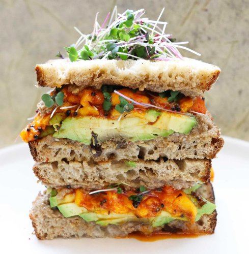 Mango and avocado make a perfect pair in this sandwich