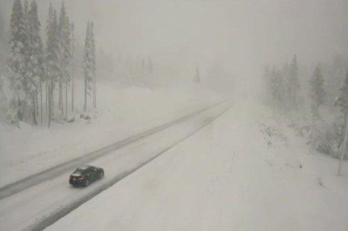 2 feet of snow in Sierra; record rain in Reno; I-80 reopens