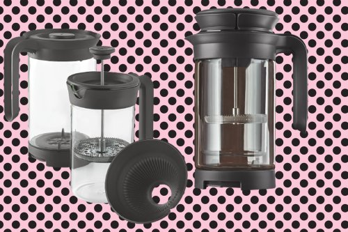 Make a cup of pour-over, cold brew, or French press coffee with this 3-in-1 brewer