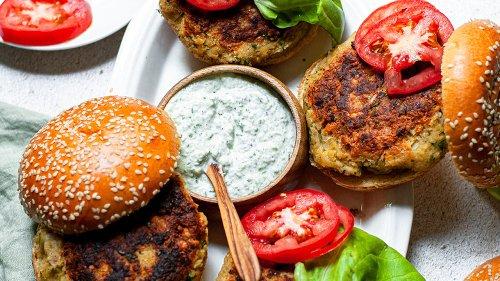 Homemade Falafel Burger Recipe That's Even Better With Creamy Tzatziki Sauce