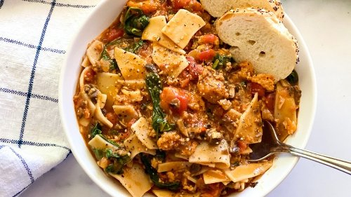 Vegan Lasagna Soup Recipe