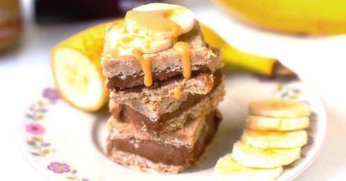 Vollkornschnitten mit Bananen Eiscreme