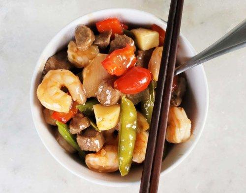 Copycat Panda Express Wok Seared Steak and Shrimp